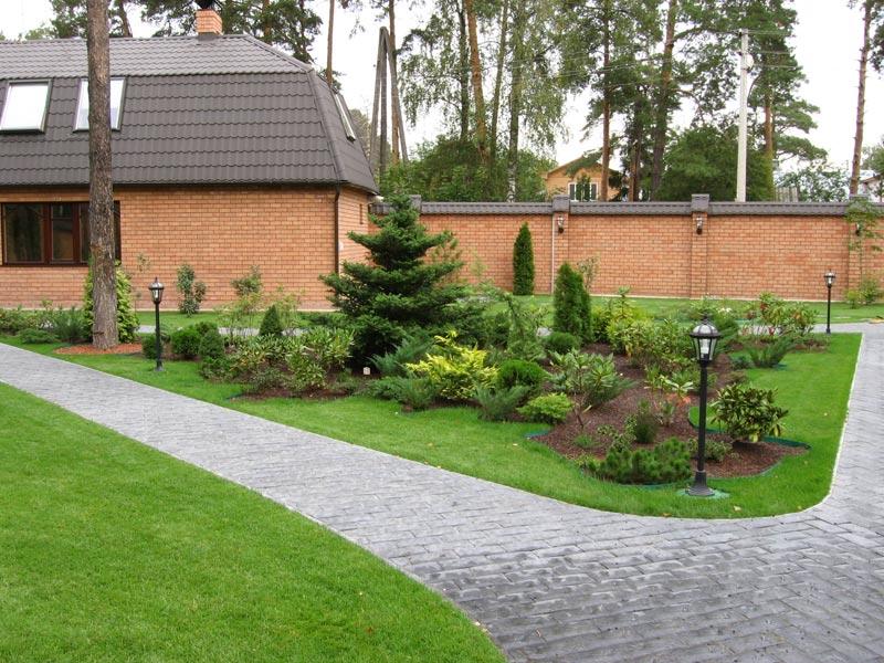 Двор перед домом фото